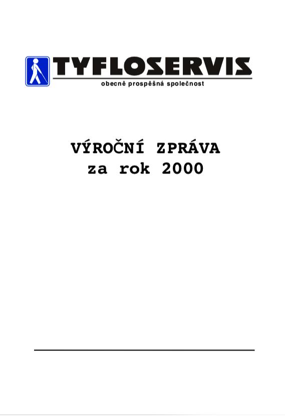 Výroční zpráva 2000